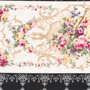 Rose Garden 2410-12E by Quilt Gate Fabrics