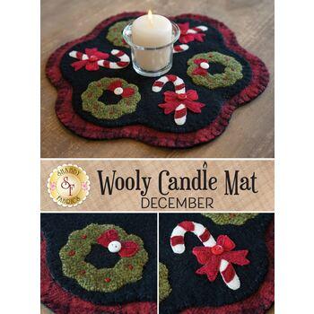 Wooly Candle Mat - December - Wool Kit
