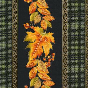 Autumn Elegance 1666M-99 Stripe Black-Multi by Benartex