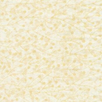 Baker's Dozens Batiks 8796-L1 Buttermilk Bud Vines by Edyta Sitar for Andover Fabrics