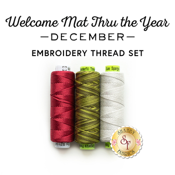 Welcome Mat Thru The Year Series - December Kit - 3pc Embroidery Thread Set