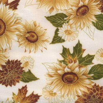 Autumn Bouquet 19855-15 Ivory by Robert Kaufman Fabrics