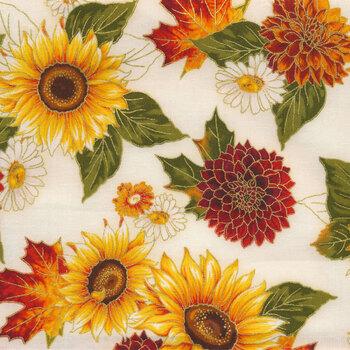 Autumn Bouquet 19855-125 Sunflower by Robert Kaufman Fabrics