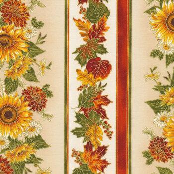 Autumn Bouquet 19858-125 Sunflower by Robert Kaufman Fabrics