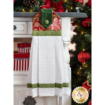 Hanging Towel Kit - Naughty or Nice - Red