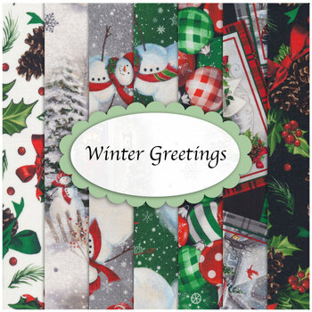 Winter Greetings  7 FQ Set by Quilting Treasures Fabrics