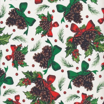 Winter Greetings 28339-Z by Quilting Treasures Fabrics