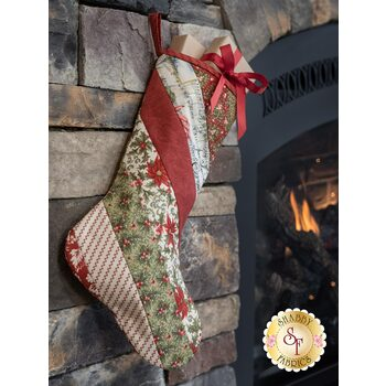 Quilt As You Go Holiday Stocking Kit - Marches de Noel