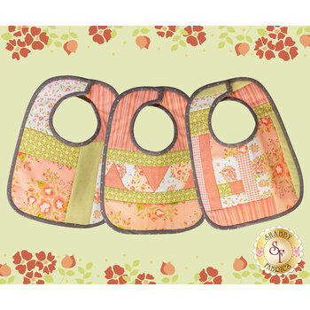 Quilt As You Go Baby Bibs Kit - Apricot & Ash
