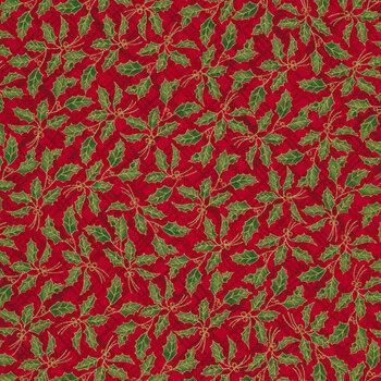 Winter's Grandeur 9 20077-3 Red by Robert Kaufman Fabrics