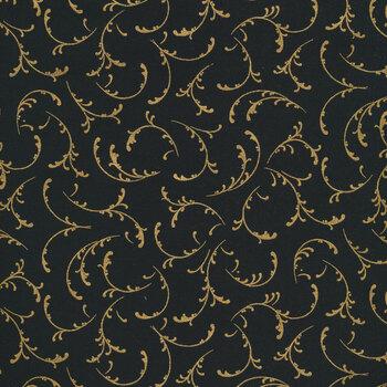 Winter's Grandeur 9 20078-2 Black by Robert Kaufman Fabrics