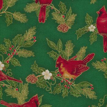 Winter's Grandeur 9 20079-7 Green by Robert Kaufman Fabrics