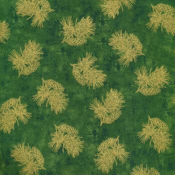 Winter's Grandeur 9 20080-7 Green by Robert Kaufman Fabrics