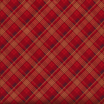 Winter's Grandeur 9 20081-3 Red by Robert Kaufman Fabrics