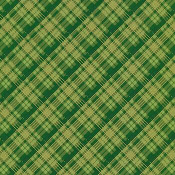 Winter's Grandeur 9 20081-7 Green by Robert Kaufman Fabrics