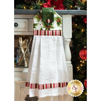 Hanging Towel Kit - Glad Tidings Metallic - White