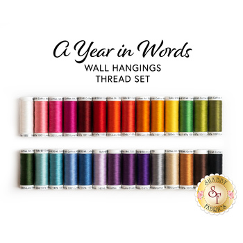 A Year In Words Wall Hangings - 28pc Thread Set