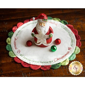 Scalloped Table Topper - Home For Christmas Kit - Better Not Pout