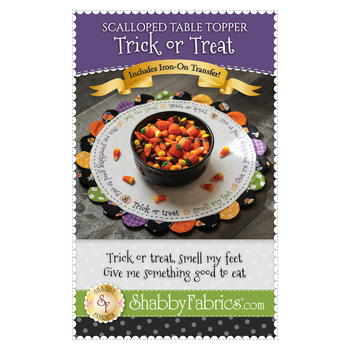 Scalloped Table Topper - Trick or Treat - Pattern & Iron On Transfer