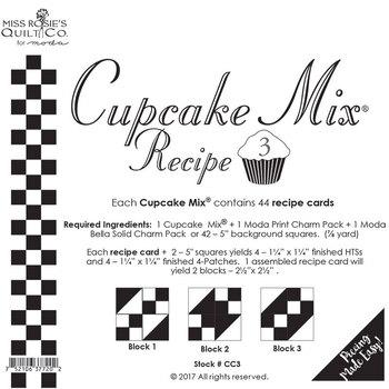Miss Rosie's Quilt Co - Cupcake Mix Recipe 3 - 44ct