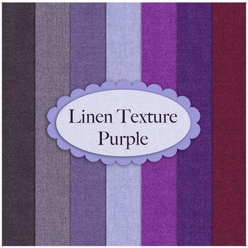 Linen Texture  7 FQ Set Purple by Makower UK Fabrics
