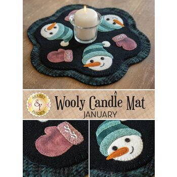 Wooly Candle Mat - January - Wool Kit