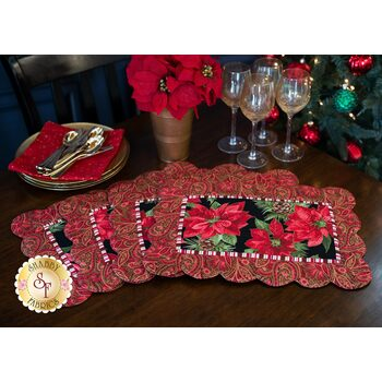Scalloped Placemats Kit - Glad Tidings - Red (Makes 4)