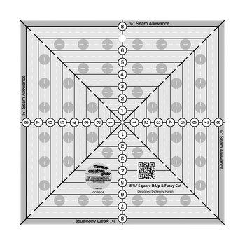 "Creative Grids 8½"" Square It Up & Fussy Cut Ruler #CGRSQ8"