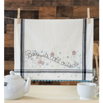 Vintage Kitchen Towel Kit - January - Baby, It's Cold Outside