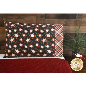 Magic Pillowcase Kit - Flannel Gnomies - Standard Size - Gray