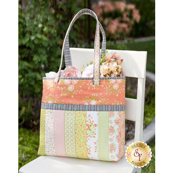 Quilt As You Go Sophie Tote Kit - Apricot & Ash