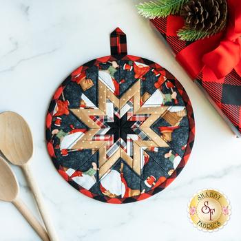 Folded Star Hot Pad Kit - Timber Gnomies - Black