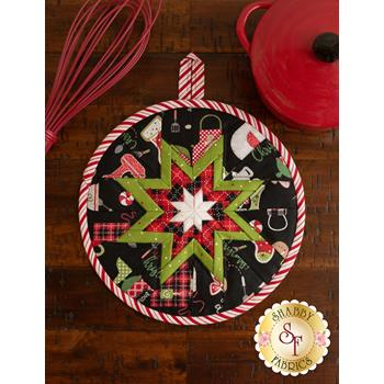 Folded Star Hot Pad Kit - We Whisk You A Merry Christmas - Black