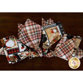 Cloth Napkins Kit - Timber Gnomies - Makes 4