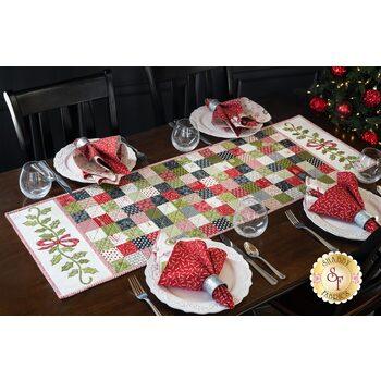 Holly Ribbon Table Runner Kit - The Christmas Card