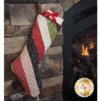 Quilt As You Go Holiday Stocking Kit - The Christmas Card