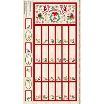 Comfort & Joy C8653-Natural Advent Panel by Timeless Treasures
