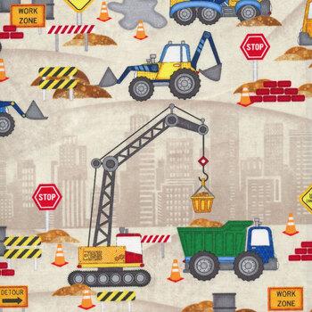 Building Dreams 82640-275 Construction Site Tan by Wilmington Prints