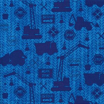 Building Dreams 82644-444 Construction Tonal Blue by Wilmington Prints