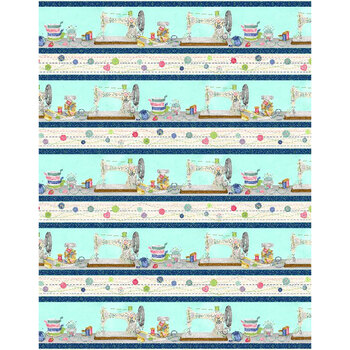 Sew Little Time 27614-413 Repeating Stripe Multi by Wilmington Prints