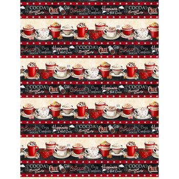 Time for Hot Cocoa 30522-923 Repeating Stripe Multi by Wilmington Prints