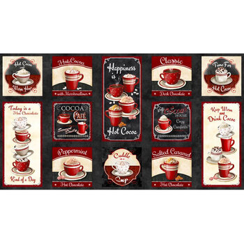 Time for Hot Cocoa 30521-932 Craft Panel Multi by Wilmington Prints