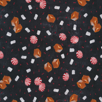 Time for Hot Cocoa 30525-923 Candy Toss Black by Wilmington Prints