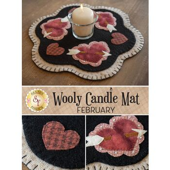 Wooly Candle Mat - February - Wool Kit