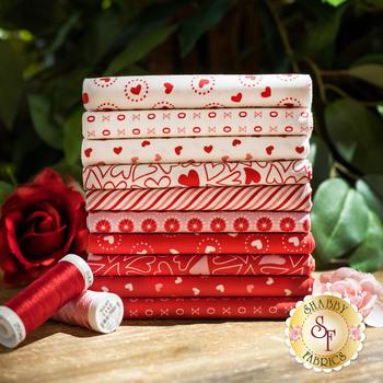 Holiday Essentials - Love  10 FQ Set by Stacy Iest Hsu for Moda Fabrics