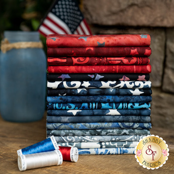 Bandana - USA  16 FQ Set by Banyan Batiks Studio for Northcott Fabrics