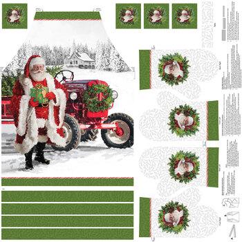 Here Comes Santa DP24076-10 Apron Panel by Northcott Fabrics