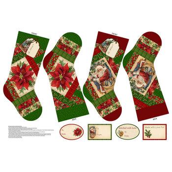 Old Time Christmas DP24145-24 Christmas Stockings Panel by Northcott Fabrics