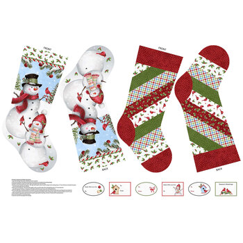 Winter Welcome DP24101-10 Holiday Stocking Panel by Northcott