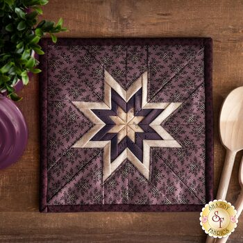 Folded Star Squared Hot Pad Kit - Plumberry - Berry